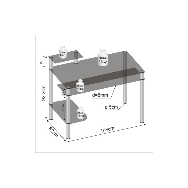 bureau informatique design en verre noir bureau ordinateur verre. Black Bedroom Furniture Sets. Home Design Ideas