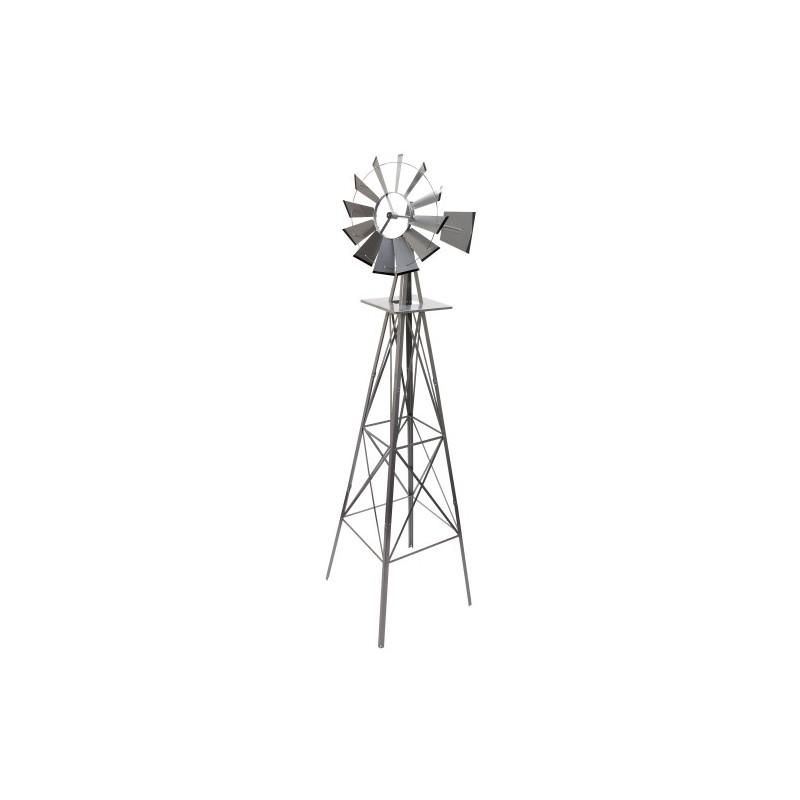 Eolienne d corative style etats unis 245cm moulin vent for Eolienne de jardin