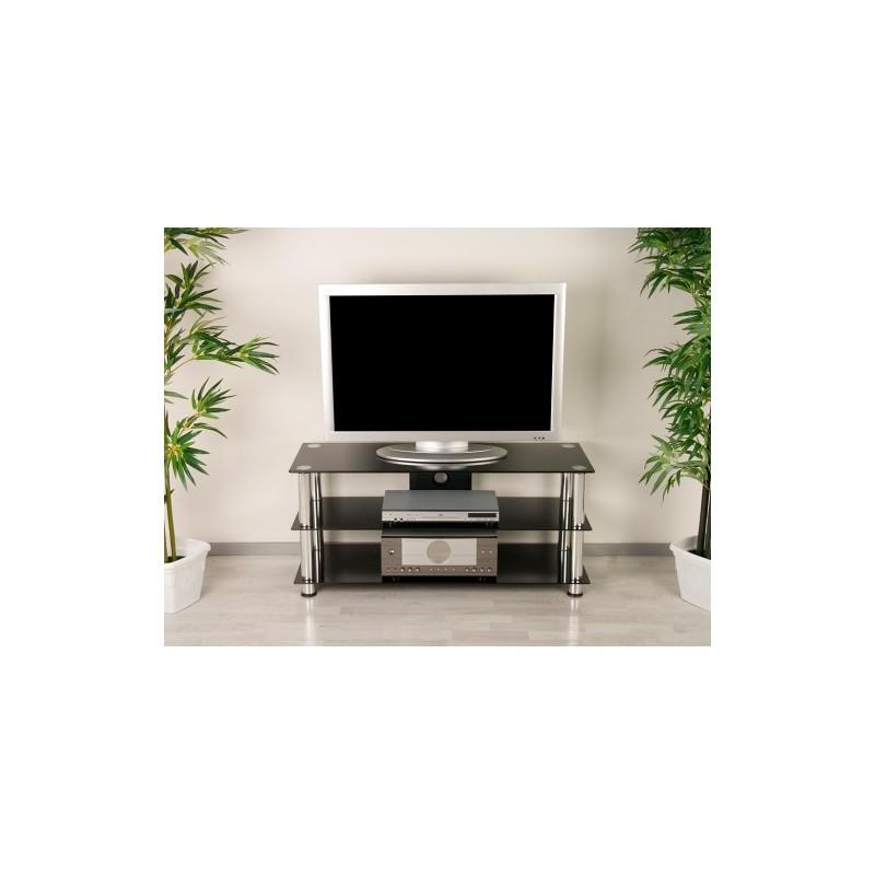 Meuble Tv Bas En Verre : Meuble Tv Design Verre Noir Meuble Tv > Meuble Tv Hifi Design En