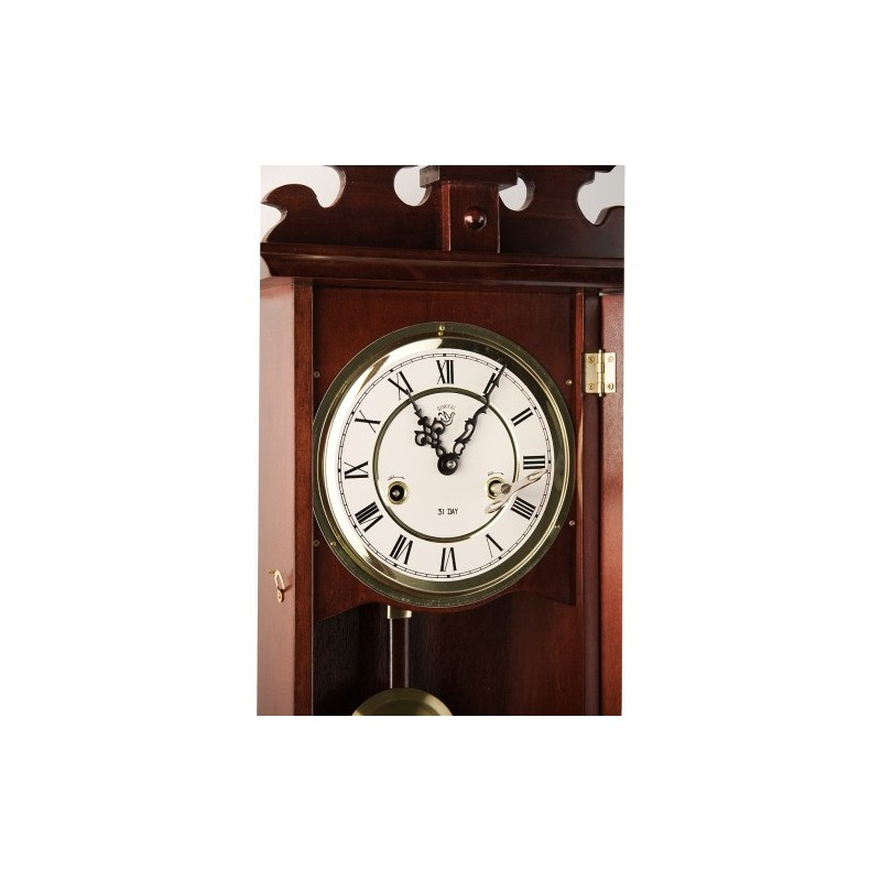 pendule murale ancienne originale acajou. Black Bedroom Furniture Sets. Home Design Ideas