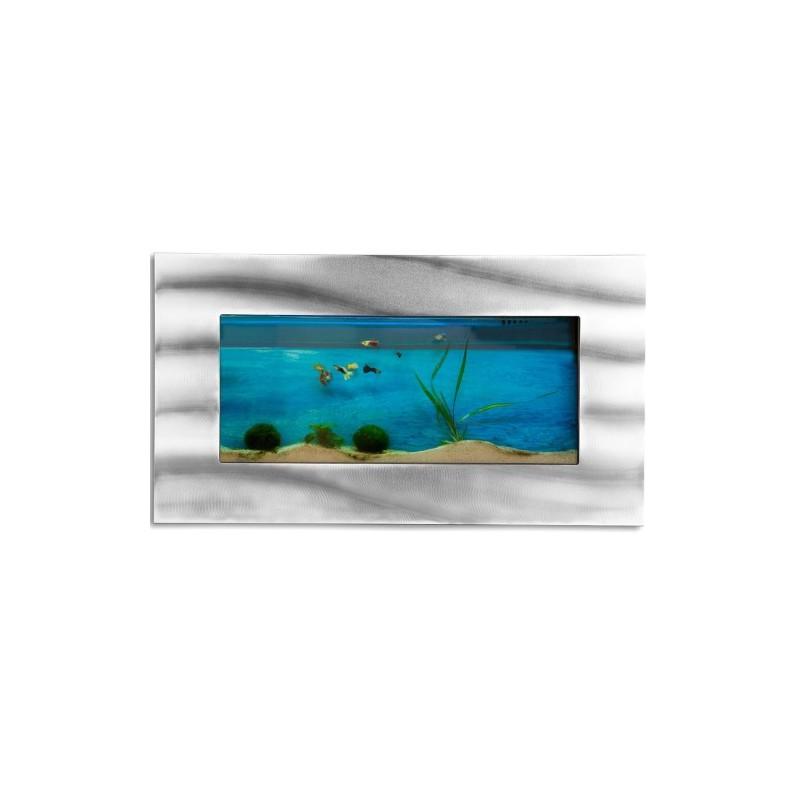 Aquarium mural design pas cher 590x325x110 mm for Poisson eau douce pas cher