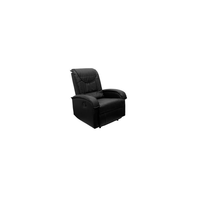 Fauteuil inclinable en cuir noir achat fauteuil relax - Fauteuil en cuir noir ...