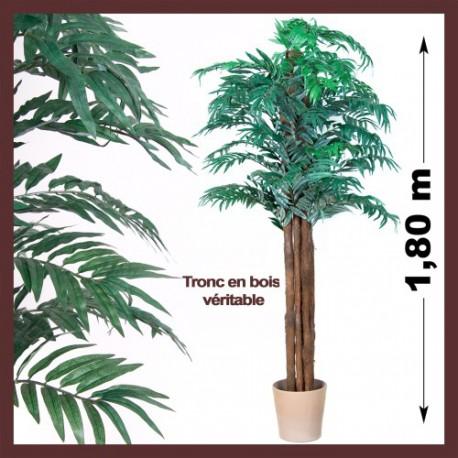 Palmier artificiel d 39 int rieur areca pas cher 180cm for Plante amincissante