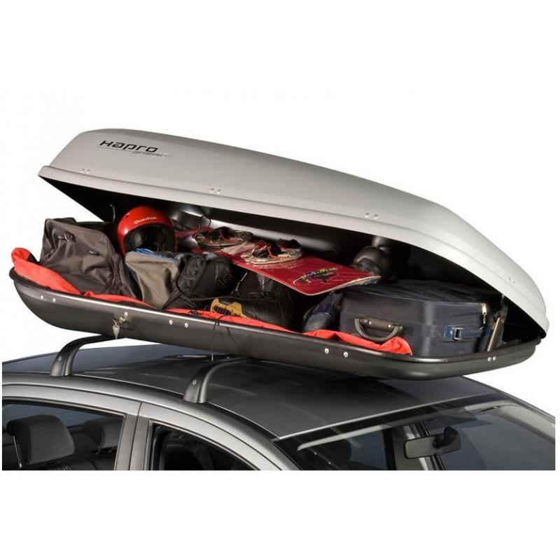coffre de toit 500l gris argent hapro probox 560