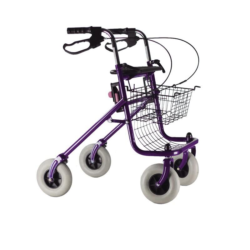 d ambulateur rollator pliable 4 roues avec freins. Black Bedroom Furniture Sets. Home Design Ideas