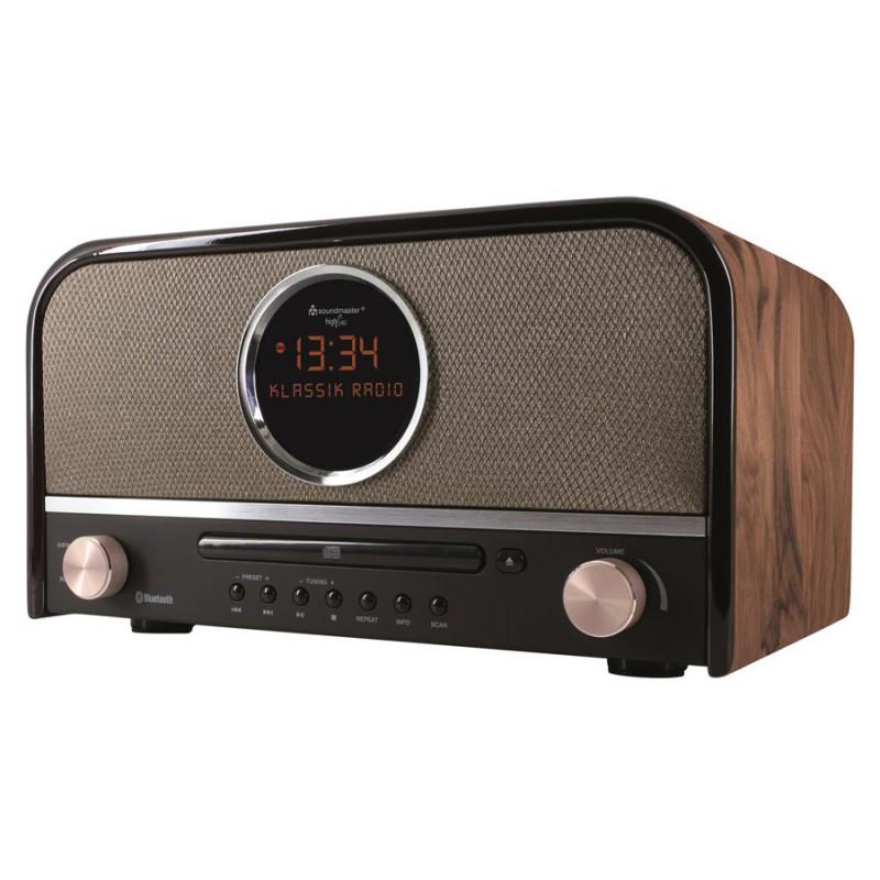 Cha u00eene hifi rétro radio DAB+ CD et Bluetooth # Chaine Hifi Retro Bois