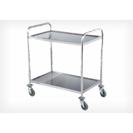 Chariot de service inox 2 tages beckers rpc l2 for Chariot inox professionnel