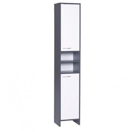 Meuble colonne salle de bain anthracite blanc 177 5cm - Salle de bain anthracite ...