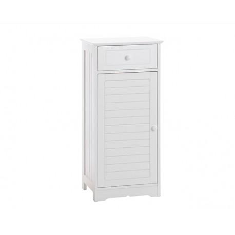 Petit meuble salle de bain blanc for Petit meuble suspendu salle de bain