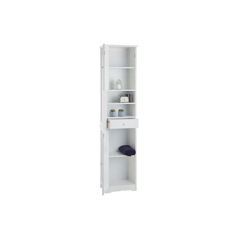 Meuble colonne salle de bain blanc cottage -> Meuble Cottage Blanc