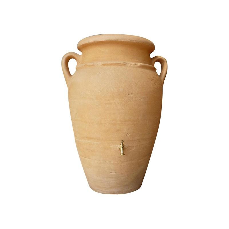 Amphore terre cuite r cup rateur d 39 eau 360l avec robinet for Amphore terre cuite pour jardin