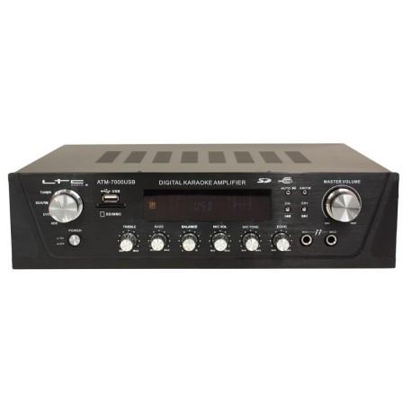 Amplificateur Karaoké stéréo 2x50W Tuner digital USB & SD/MMC - LTC ATM7000USB