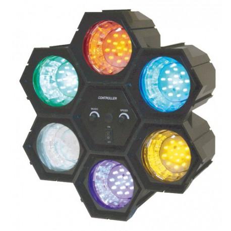 Séquenceur de lumière 6 modules à LED - Ibiza JDL034LED