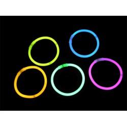 Bracelets lumineux 5 couleurs - Pack de 100
