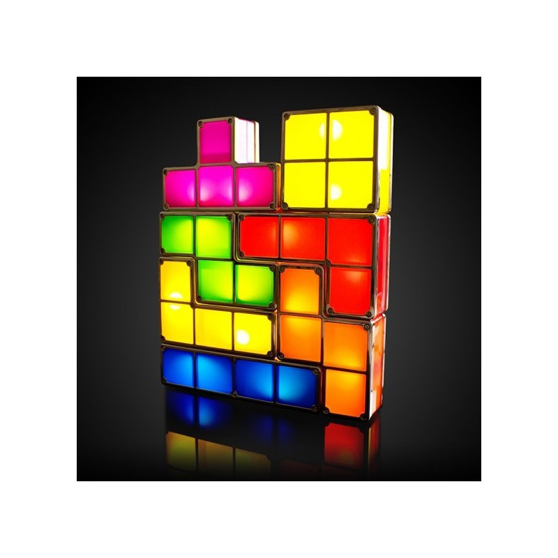 lampe tetris modulable led achat lampe t tris led pas cher. Black Bedroom Furniture Sets. Home Design Ideas