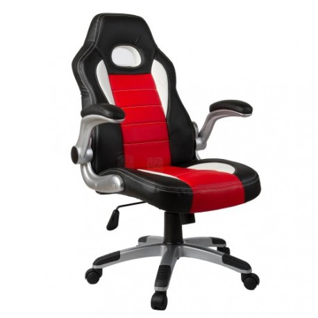 fauteuil de bureau sport racing rouge et noir. Black Bedroom Furniture Sets. Home Design Ideas