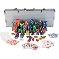 Mallette poker 500 jetons avec accessoires