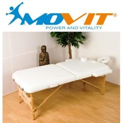 Table de massage pliante professionnelle blanche - Epaisseur de coussin 8cm