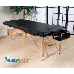 Table de massage pliante noire pas cher
