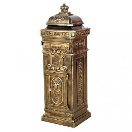 boite aux lettres pilier colonne en fonte 105cm. Black Bedroom Furniture Sets. Home Design Ideas