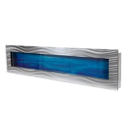 Aquarium mural design éclairé 200 x 44,5 x 11 cm