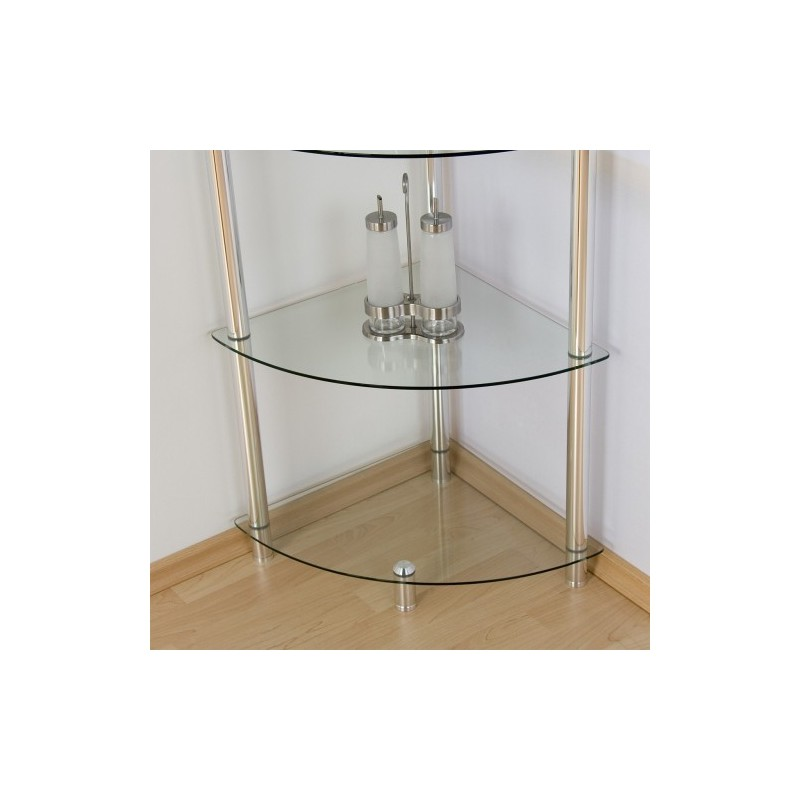 Etag re d 39 angle murale en verre 137cm achat tag re d for Etagere verre