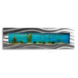 Aquarium mural design pas cher 1525x430x110mm