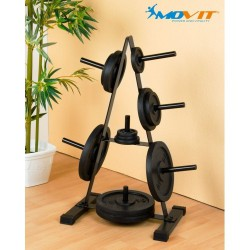 Support disques de musculation 7 branches