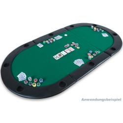Dessus de table de poker pliant 3 parties 210 cm