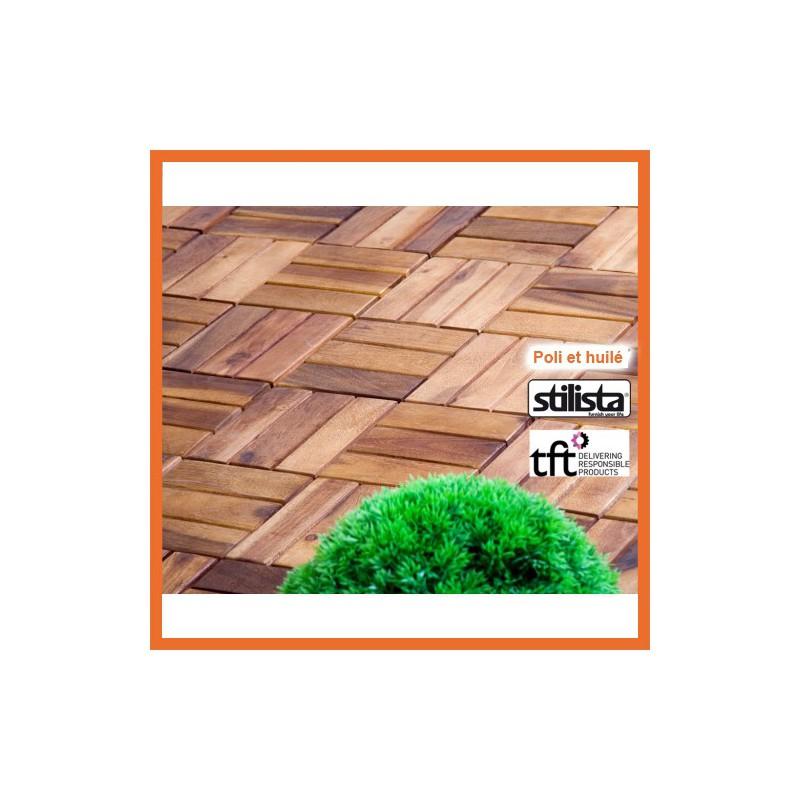 dalles de terrasse en bois dacacia  Achat dalle de terrasse pas cher