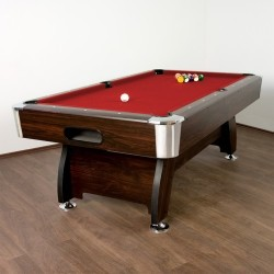 Table de Billard Premium Rouge, 8 pieds