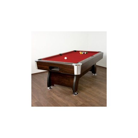 Table de Billard Premium Rouge, 7 pieds