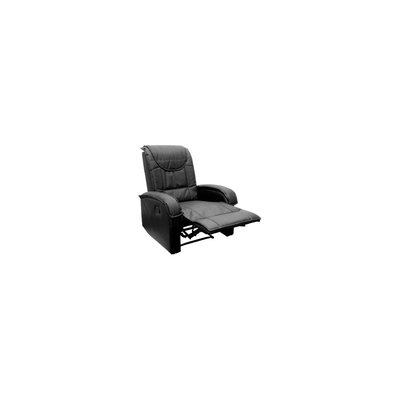 fauteuil inclinable en cuir noir achat fauteuil relax. Black Bedroom Furniture Sets. Home Design Ideas