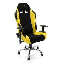 Fauteuil de Bureau Racing, Fauteuil de Sport Pivotant jaune
