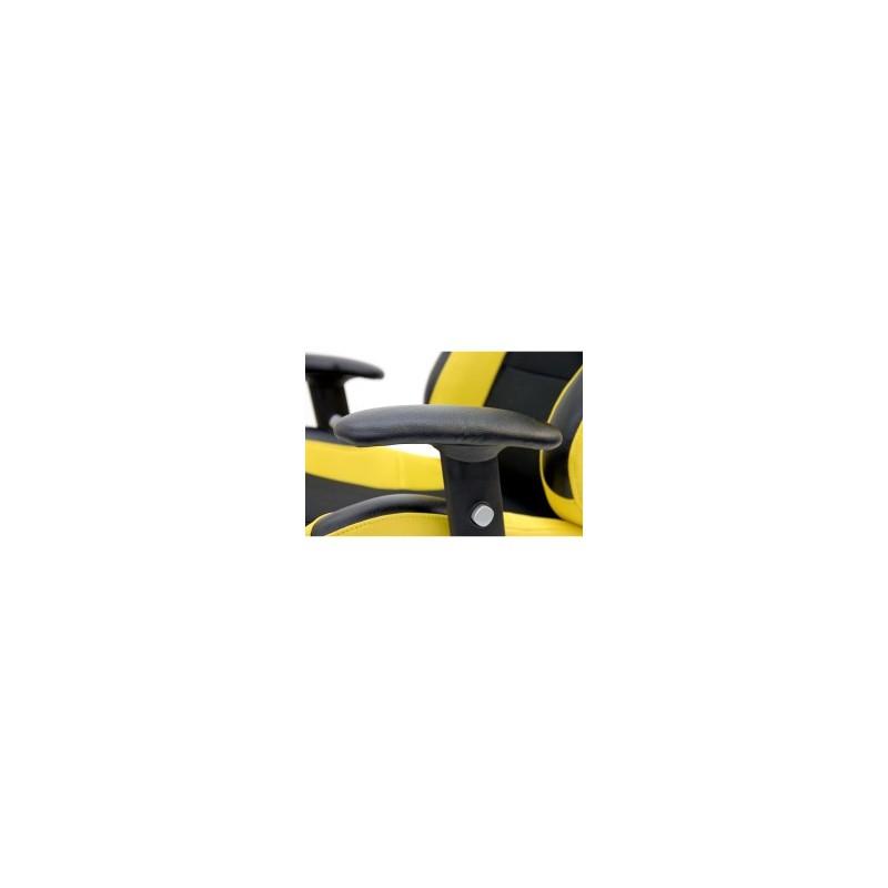 Fauteuil de bureau racing fauteuil de sport pivotant jaune - Fauteuil de bureau sport racing ...