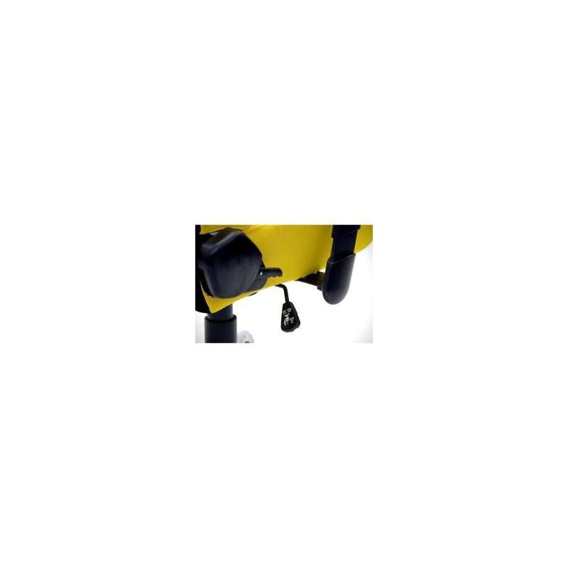Fauteuil de bureau racing fauteuil de sport pivotant jaune for Meuble bureau jaune