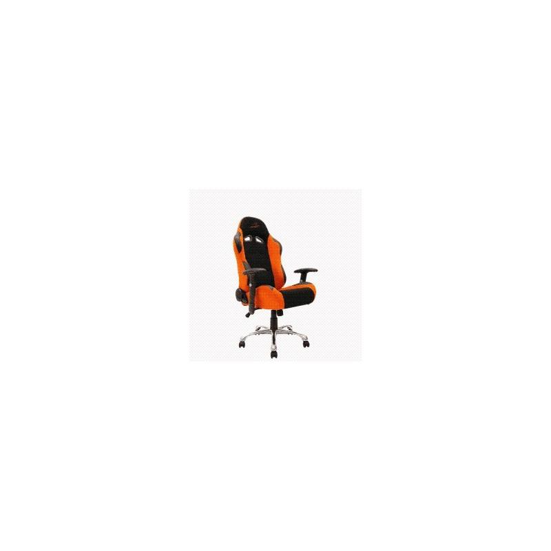 fauteuil de bureau look racing orange noir. Black Bedroom Furniture Sets. Home Design Ideas