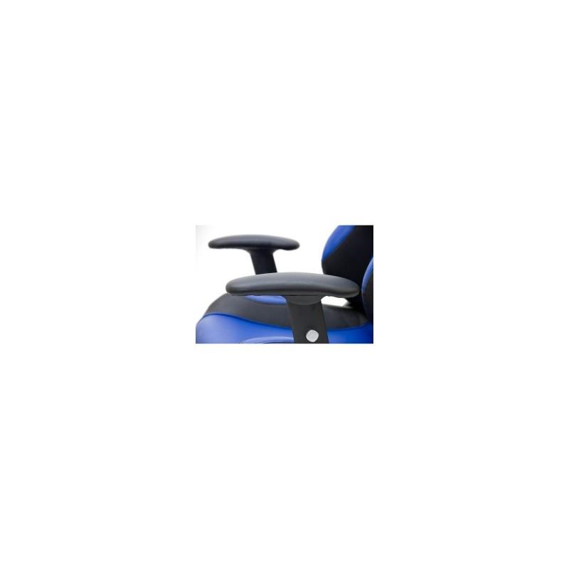 Fauteuil de bureau racing fauteuil de sport pivotant bleu - Fauteuil de bureau pivotant ...