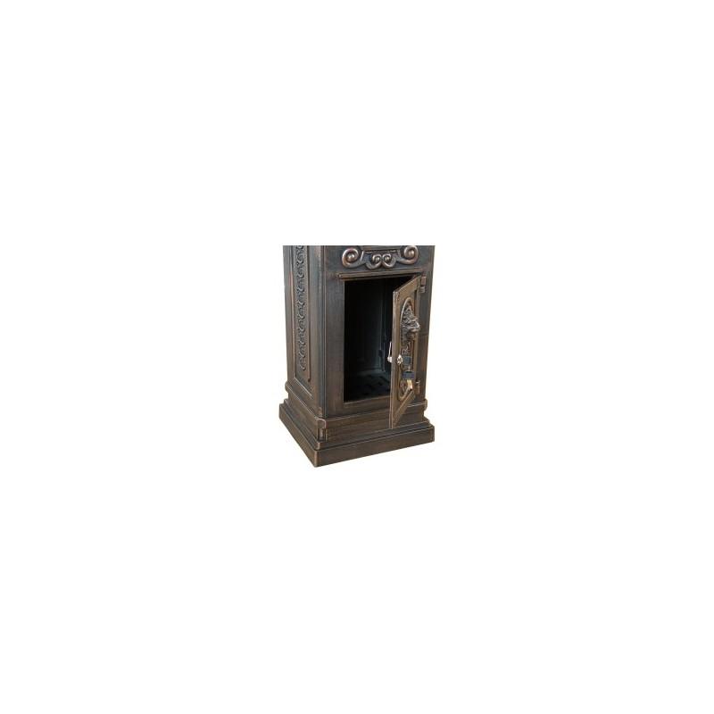 bo te aux lettres sur pied bronze. Black Bedroom Furniture Sets. Home Design Ideas