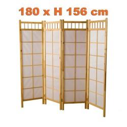 Paravent bois blanc intérieur 180x(H)156 cm