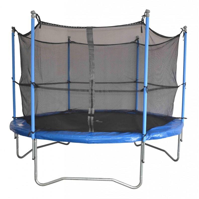 trampoline 305cm 10 39 39 avec filet de protection. Black Bedroom Furniture Sets. Home Design Ideas