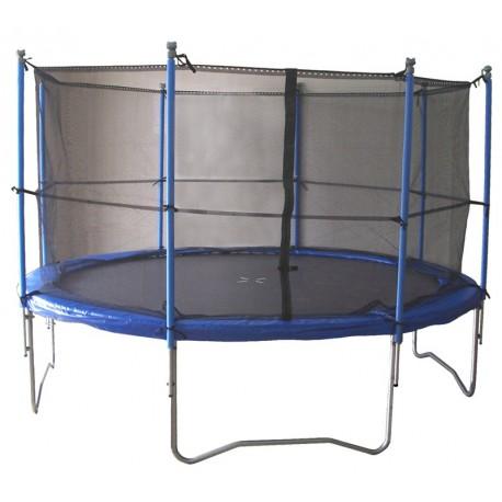 trampoline 365cm 12 39 39 avec filet de protection. Black Bedroom Furniture Sets. Home Design Ideas