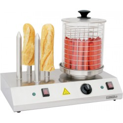 Machine à hot dog professionnelle 4 plots - Casselin CMH1