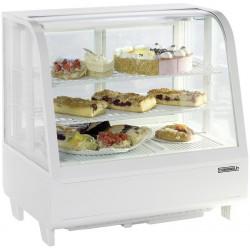 Vitrine réfrigérée à poser comptoir 100L blanche - Casselin CVR100LB