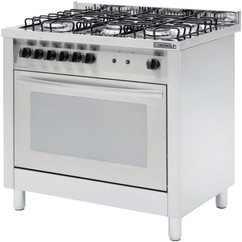 Fourneau professionnel 5 feux avec four lectrique for Fourneau professionnel cuisine