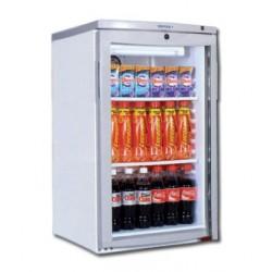 Mini-vitrine de comptoir réfrigérée 145L