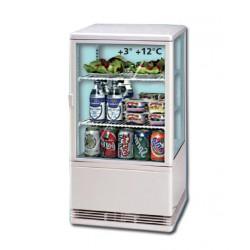 Mini-vitrine de comptoir réfrigérée 70L Blanc