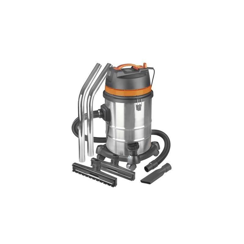 Aspirateur industriel eau et poussi re 3000w 80l ch ssis for Aspirateur a main eau et poussiere