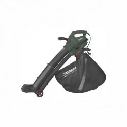 Aspirateur souffleur broyeur de feuilles avec roulettes 3000W