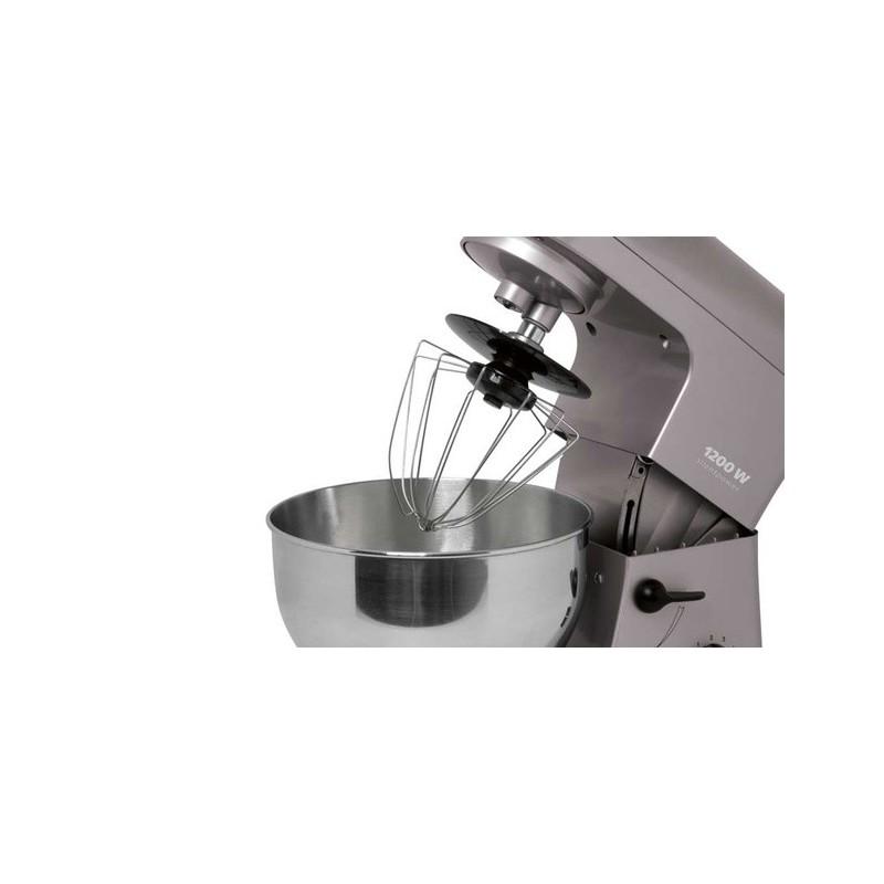 Robot p trin multifonctions 1200w silencieux bomann km370cb for Robot de cuisine petrin